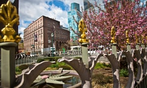 Cooper UnionA cherry tree blossoms in a park enclosure near Cooper Union's 1858 Foundation Building, left, Thursday, April 23, 2015, in New York. Cooper Union for the Advancement of Science and Art, which produced alumni like Thomas Edison and World Trade Center planner Daniel Libeskind while remaining tuition-free for generations, is awaiting the results of a probe that could expose financial mismanagement and tarnish its reputation. (AP Photo/Bebeto Matthews)
