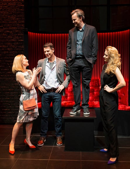 'A certain style' … Christina Cole as Stevie, Lloyd Owen as Joseph, Matthew Perry as Jack and Jennifer Mudge as Stephanie - The End Of Longing - Playhouse Theatre