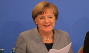 Don't write her off just yet: Angela Merkel at the CDU conference last week