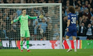 Kepa Arrizabalaga refused to leave the pitch after his manager attempted to substitute him.