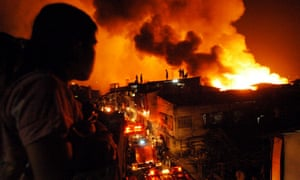 More than 22,000 people were left homeless by this fire which ripped through informal settlements in Manila in January 2004.