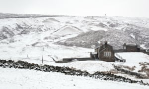 Snow-covered fields close to Nenthead, Cumbria