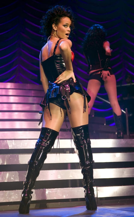 Rihanna on her Good Girl Gone Bad tour in Cardiff in 2007