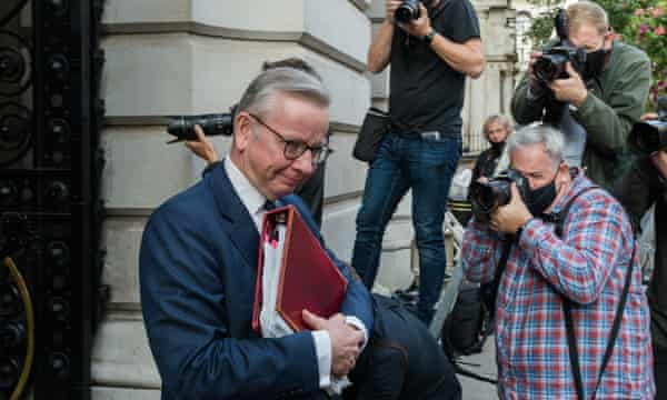 Michael Gove in Downing Street, September 2020.