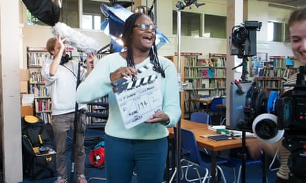 Graveney pupil Ismat Alhassan during filming in the school library