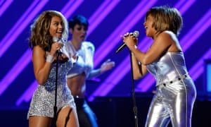 The queens ... Beyoncé and Turner at the 50th annual Grammy awards in Los Angeles, February 2008.