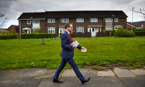 Andrew Gwynne campaigning in his Denton and Reddish constituency.