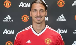 Zlatan Ibrahimovic, who moved to Old Trafford after Euro 2016.