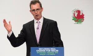 Davies addressing the Welsh Conservatives spring conference earlier this year.