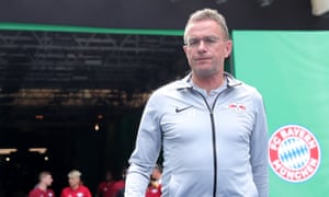 Ralf Rangnick before RB Leipzig took on Bayern Munich in the 2019 German Cup final.