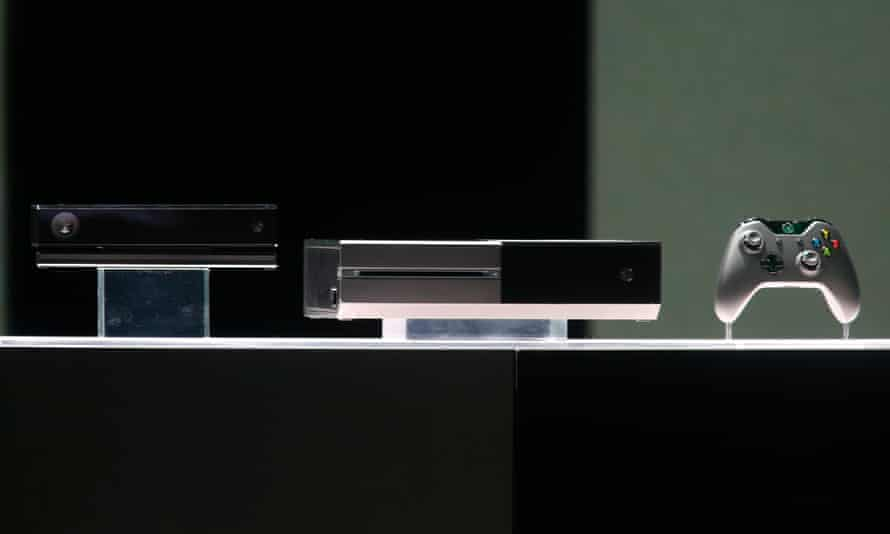 The Xbox One, with a controller and Kinect.