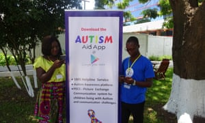 Alice Amoako and Solomon Avemegah, founders of the Autism Aid App.