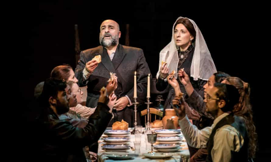 Tracy Ann Oberman, right, with Omid Djalili in Fiddler on the Roof.