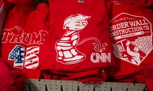 The shirt with Trump peeing on the CNN lgo.