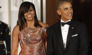 Former US president Barack Obama and former first lady Michelle Obama