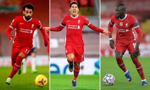 Liverpool's Mohamed Salah, Roberto Firmino and Sadio Mané have suffered a collective drop-off made worse by Diogo Jota's injury.