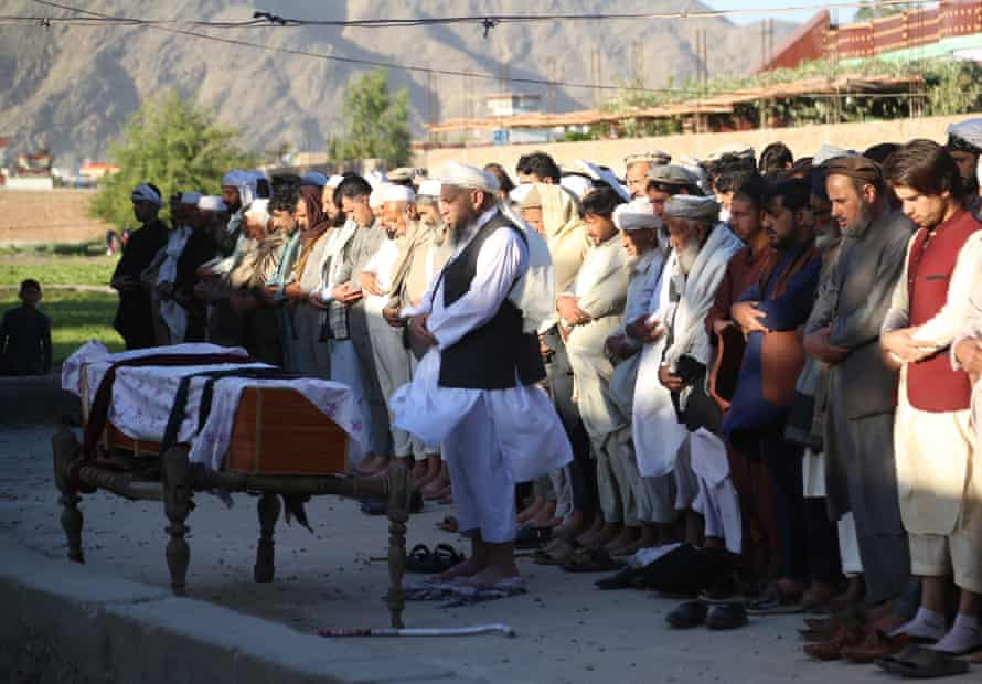 The funeral of one of the three female polio workers killed in Jalalabad, Afghanistan