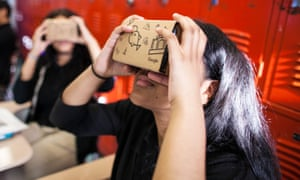 Google currently offers a cardboard smartphone holder that acts as a low-tech headset but offers a less-than-realistic virtual world.
