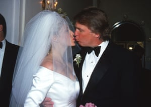 Trump marries Marla Maples, who he met while still married to Ivana. Trump and Maples had a daughter, Tiffany. They divorced in 1999