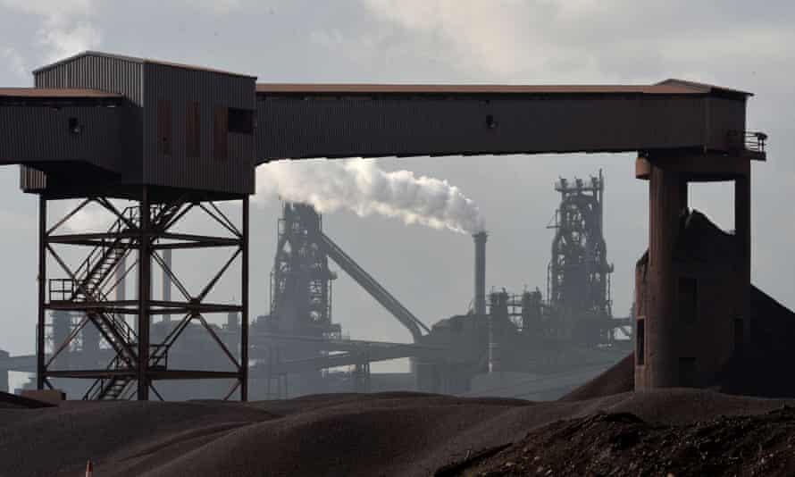 The Tata Scunthorpe steel plant