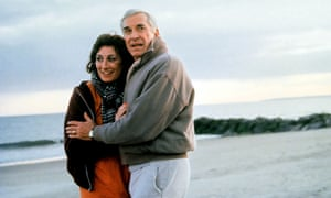 Martin Landau and Anjelica Huston in Crimes and Misdemeanors, 1989, directed by Woody Allen.