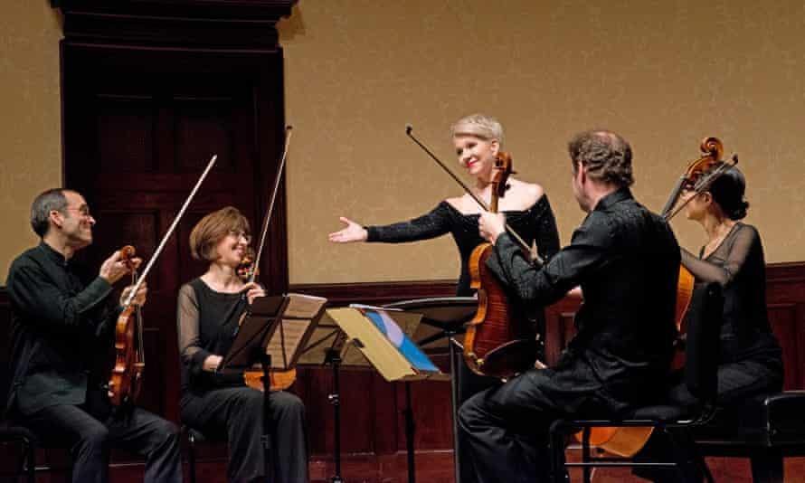Mezzo-soprano Joyce DiDonato with the Brentano String Quartet at Wigmore Hall.