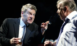 Tony Haygarth with Kenneth Branagh in Mamet's Edmond at the National Theatre in 2003.