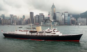 The Royal Yacht Britannia in Hong Kong before it was decommissioned.