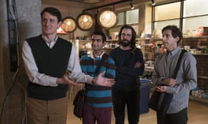 Uncanny valley ... Zach Woods, Kumail Nanjiani, Martin Starr and Thomas Middleditch in the prescient comedy.