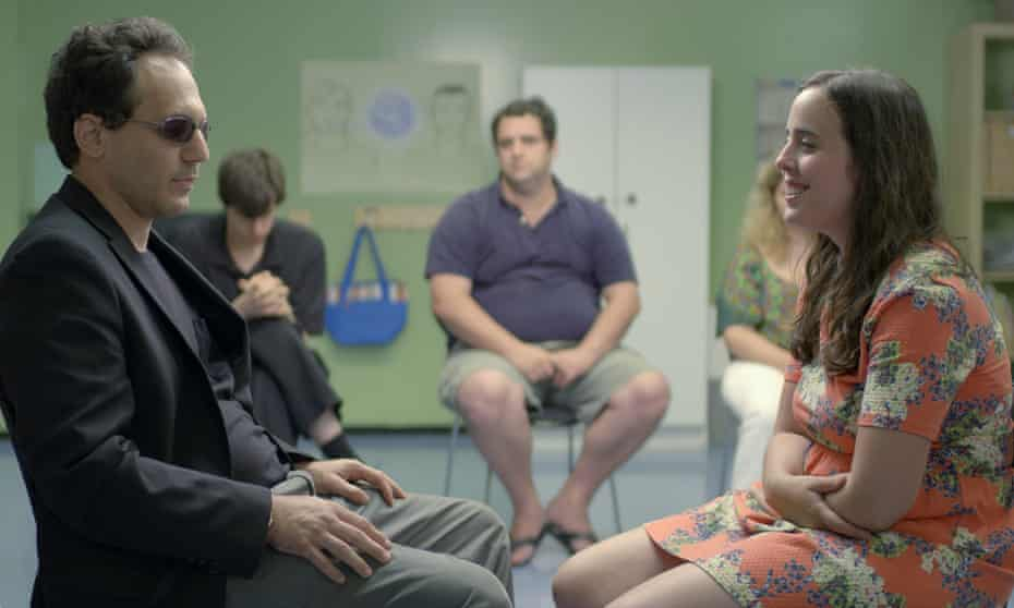 Laugh out-loud funny … Brandon Polansky and Samantha Elisofon in Keep the Change.