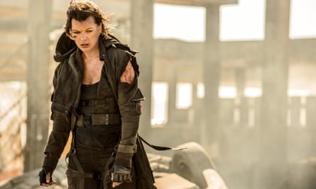 A mashup of Night of the Living Dead and Mad Max … Milla Jovovich in the sixth Resident Evil film.