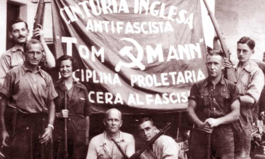 British volunteers in the International Brigade, 1937.