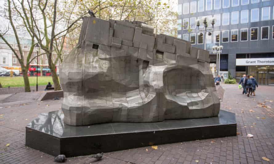 Eduardo Paolozzi's sculpture outside Euston station in London.