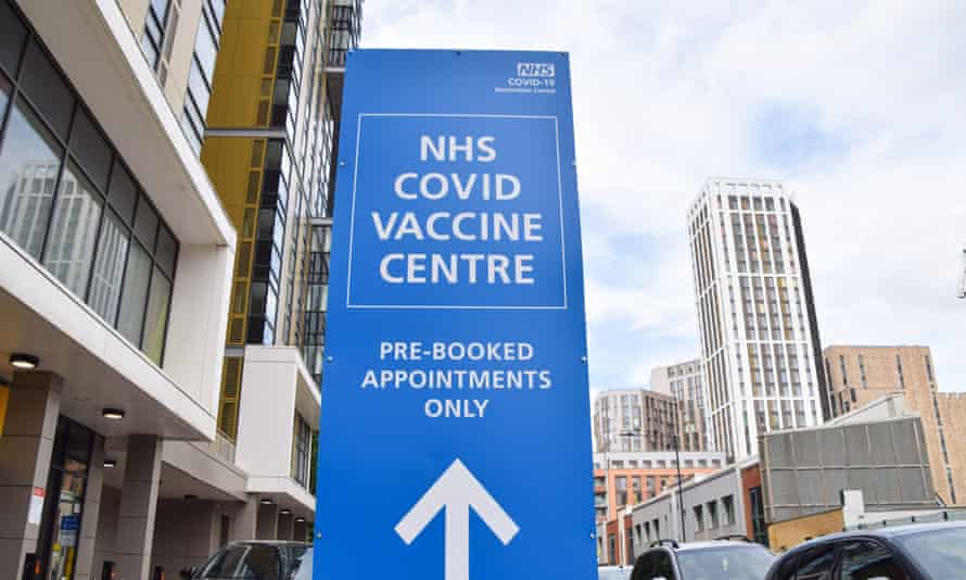 A Covid-19 vaccination centre in Wembley, London.