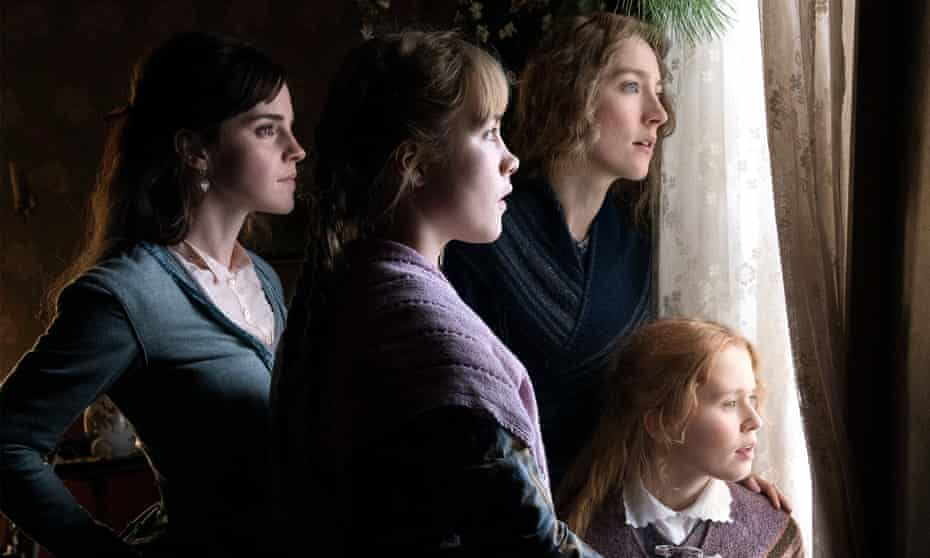 Beguiling … Emma Watson, Florence Pugh, Saoirse Ronan and Eliza Scanlen in Little Women.