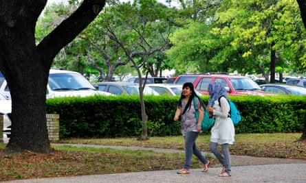 Muslim female students at University of Houston, Texas.