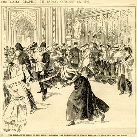 Illustration, from the Women's Place in Parliament exhibition at the Houses of Parliament. UK.