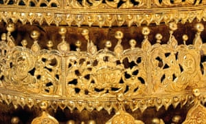 Close-up of a crown made in Ethiopia between 1600 and 1850 which was part of the controversial V&A exhibition in 2018.