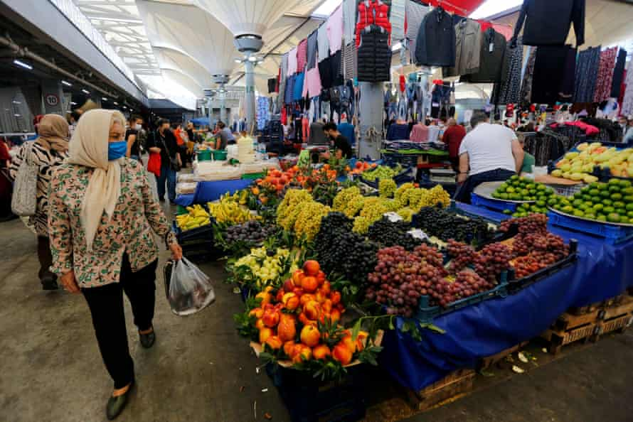 A market in Istanbul. Turkey is yet to release monthly vital data for 2020.
