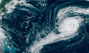 A satellite image shows Hurricane Paulette off the southern US coast.