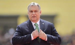 Hungarian Prime Minister Viktor Orban arrives for an EU summit in Sibiu, Romania, Thursday, May 9, 2019. European Union leaders on Thursday start to set out a course for increased political cooperation in the wake of the impending departure of the United Kingdom from the bloc. (AP Photo/Andreea Alexandru)