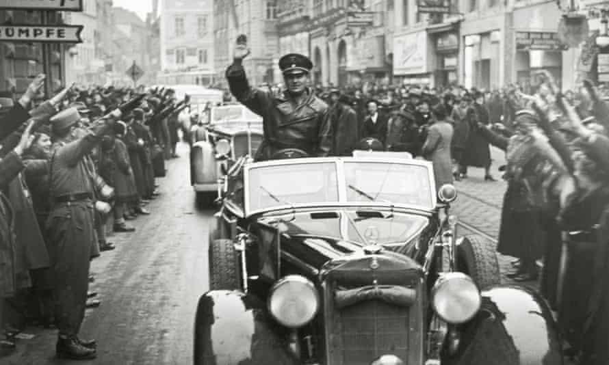 Hans Frank  in Graz, Austria, in 1938.