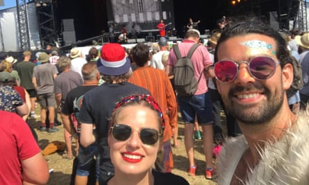 Evie Hirst and Jim Moston at Glastonbury 2019