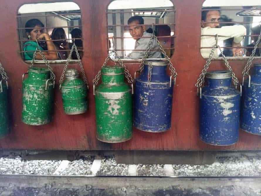 A train in India.