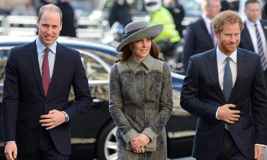 The Duke and Duchess of Cambridge and Prince Harry