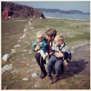 Knausgaard with his father and brother