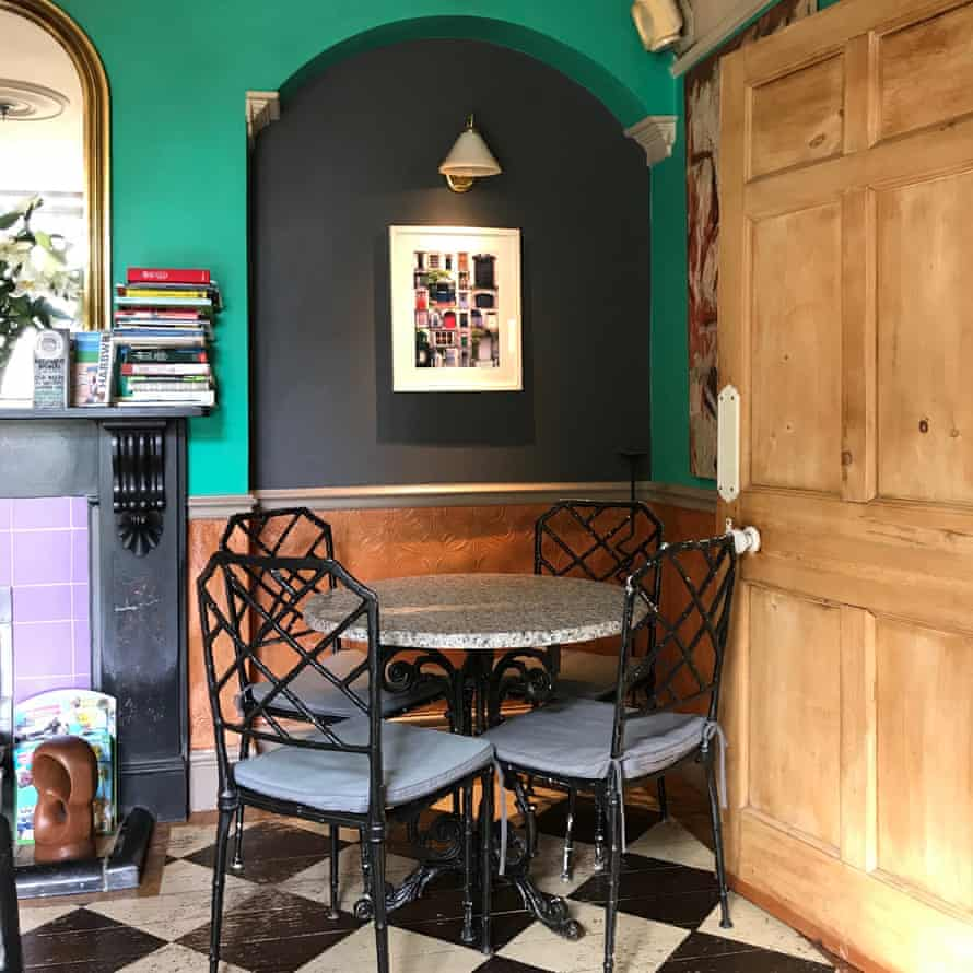 Wine bar area of The Cors Country House, Laugharne, Wales
