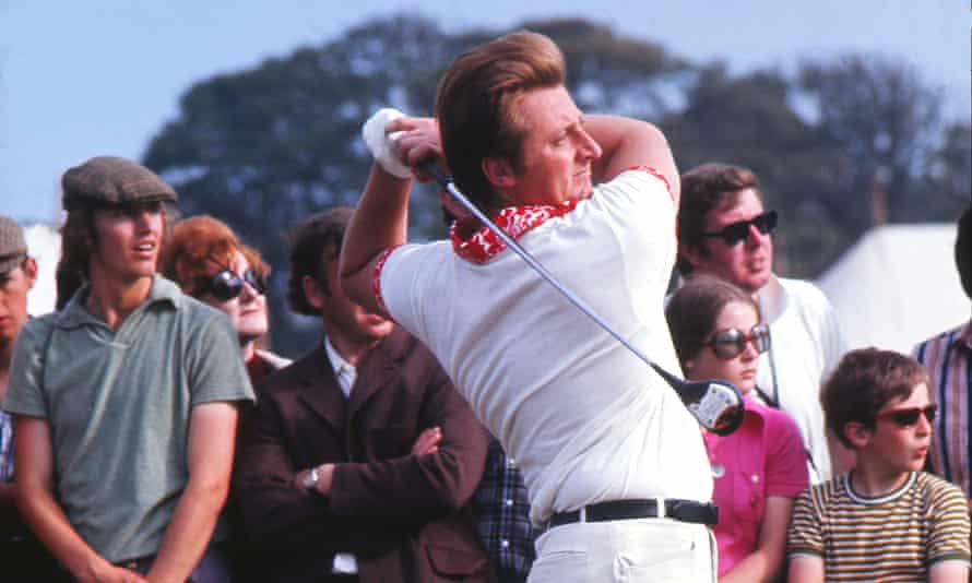 Brian Barnes competing in the 1972 Open at Muirfield, where he came fifth.