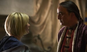 Jodie Whittaker as the Doctor and Art Malik as Ilin.
