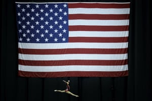 Kansas City, US: Leanne Wong competes on the beam during the senior women's competition at the US Gymnastics Championships